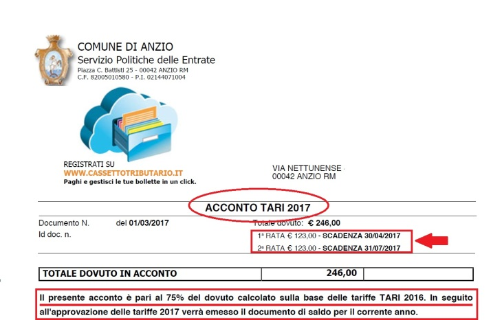 ACCONTI TARI 2017